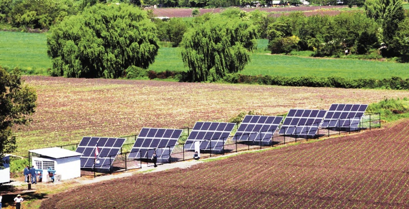 paneles solares para la agricultura